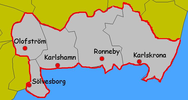 karta blekinge Mäklare Blekinge, fastighetsmäklare i Blekinge   LetaMäklare.se karta blekinge